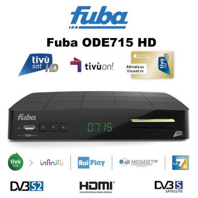 Fuba ODE715 HD HEVC DVB S2 Smart Box with Tivusat SmartCard PRE-ACTIVATED
