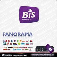 Bis TV Panorama viewing card Hotbird : Creative Satellite Ltd, for